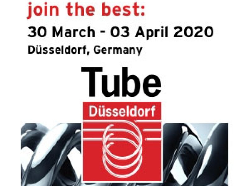 join us on booth number 10F06 at Wire&Tube 2020